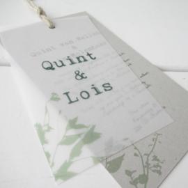 Trouwkaart Quint & Lois