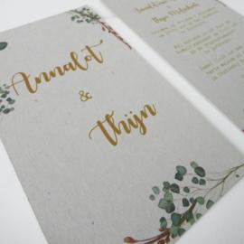 Trouwkaart Annalot & Thijn