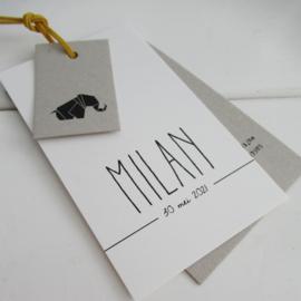 Geboortelabel Milan