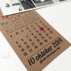 Save the Date label Mark & Sanne