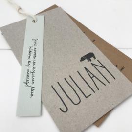 Geboortelabel Julian