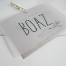 Geboortelabel Boaz