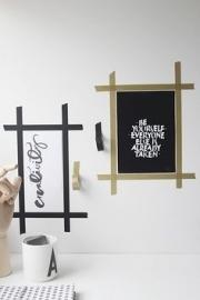 MT Maskingtape vowel black - masking tape letters zwart wit
