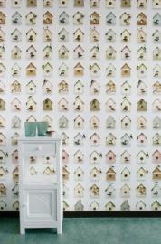 Behang Vogelhuisjes