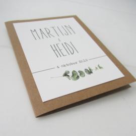 Trouwkaart Martijn & Heidi