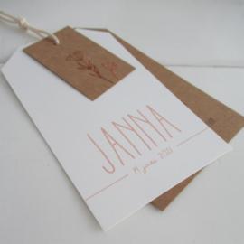 Geboortelabel Janna