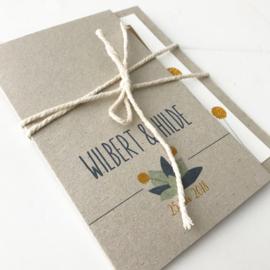 Trouwkaart Wilbert & Hilde