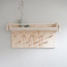 Kapstok underlayment met wandplank XL