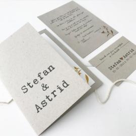 Trouwkaart set Stefan & Astrid