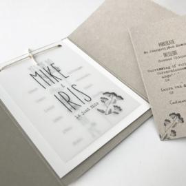 Trouwkaart Mike & Iris