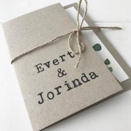 Trouwkaart Evert & Jorinda