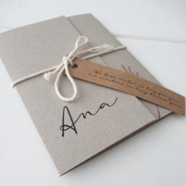 Geboortekaart pocketfold Ana