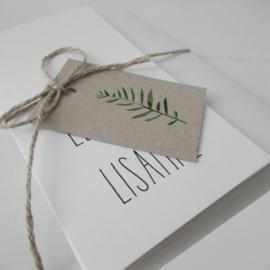 Trouwkaart Lennart & Lisanne