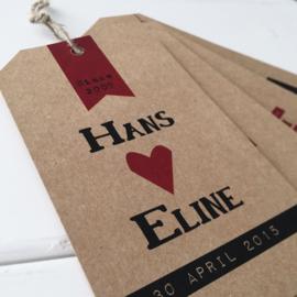 Trouwlabel Hans & Eline