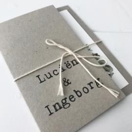 Trouwkaart Lucien & Ingeborg