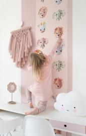 Behang wilde dieren roze