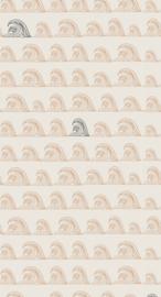 Behang Zeebries stone/antraciet