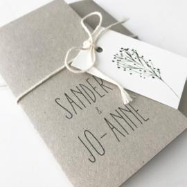Trouwkaart Sander & Jo-Anne