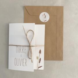 *NIEUW* Trouwkaart pocketfold Mirre & Olivier
