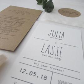 *NIEUW* Trouwkaart Julia & Lasse