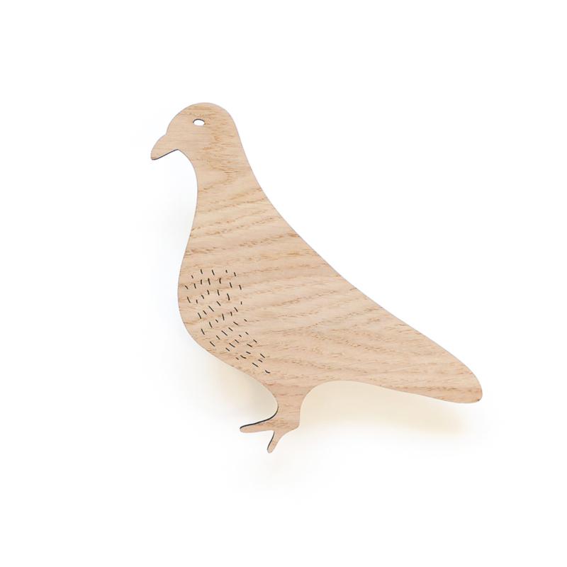 Wandhaak hout duif Ted & Tone