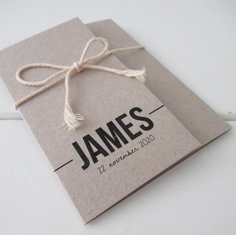 Geboortekaart pocketfold James