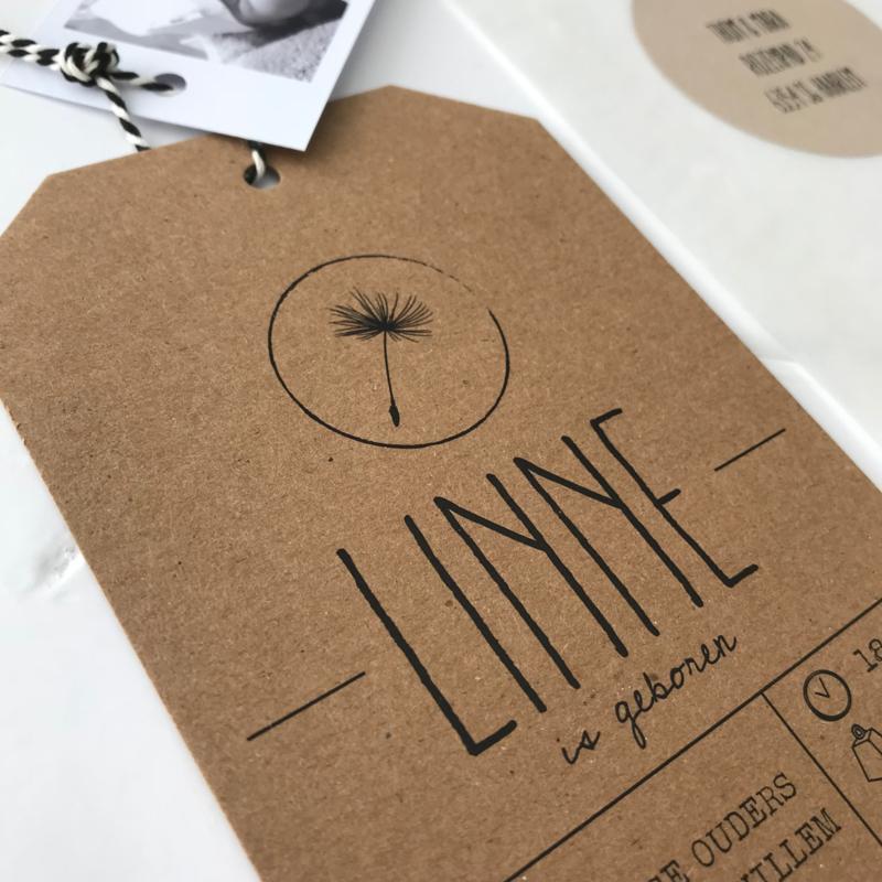 Geboortekaart Linne