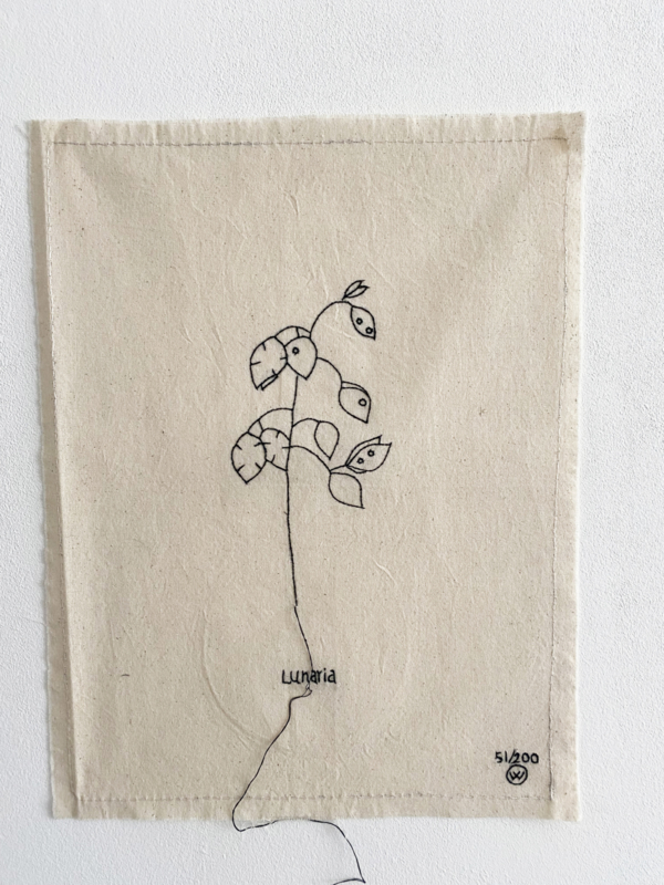 *NIEUW* Poster van katoen stitched art  Lemonwise- Judaspenning-Lunaria