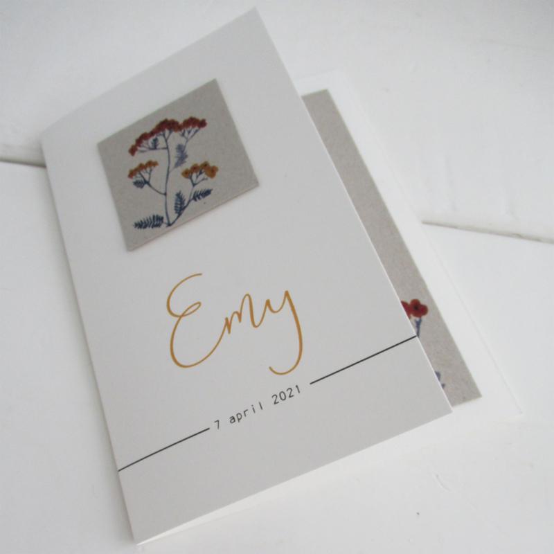 Geboortekaart Emy