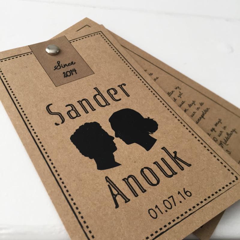 Trouwlabel Sander & Anouk