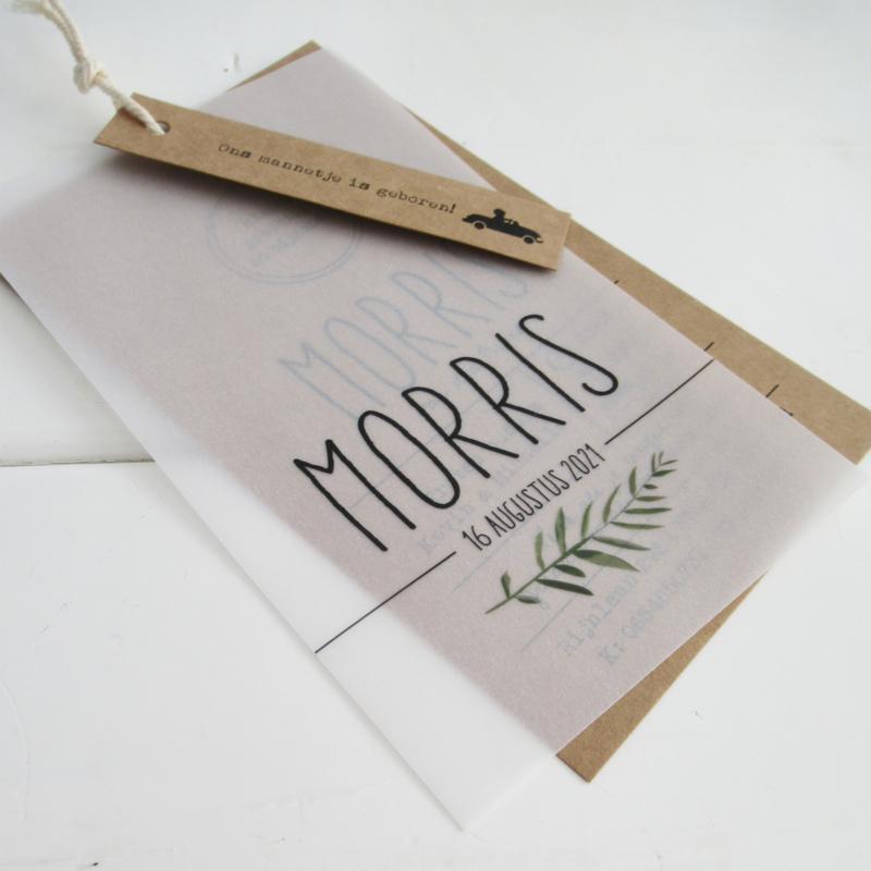 Geboortelabel Morris