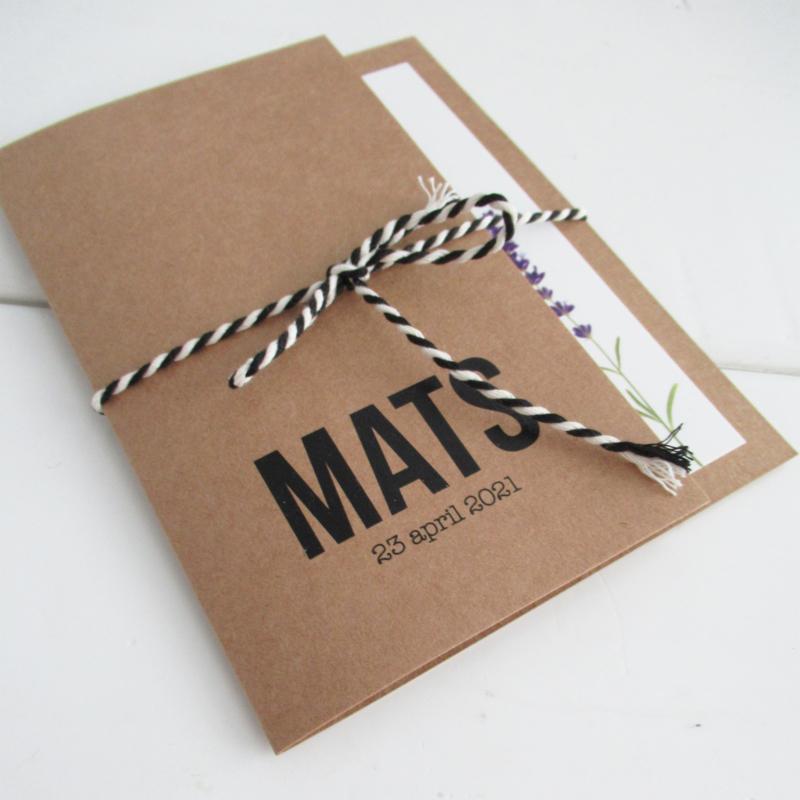 Geboortekaart pocketfold Mats