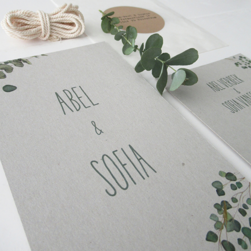 *NIEUW* Trouwkaart Abel en Sofia