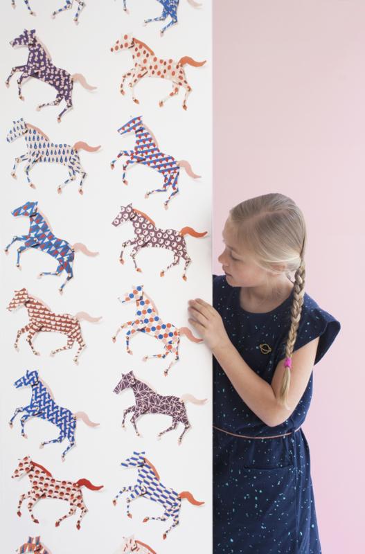Behang paarden