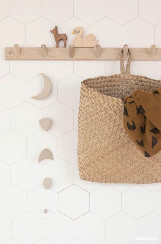 Behang Honingraat wit-nude-brons
