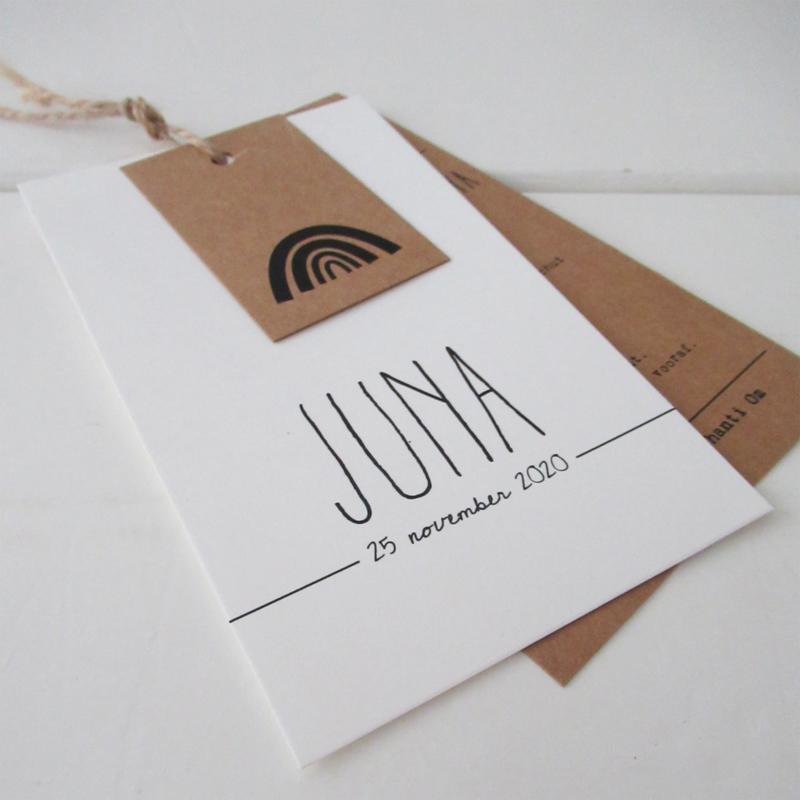 Geboortelabel Juna