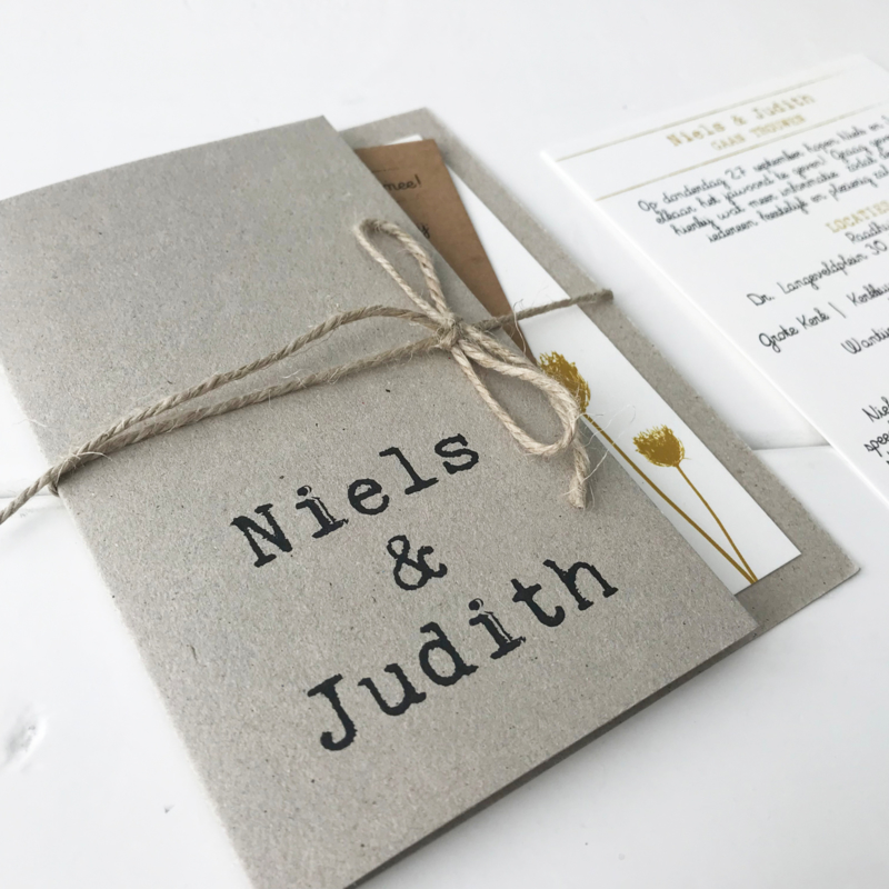 Trouwkaart Niels & Judith