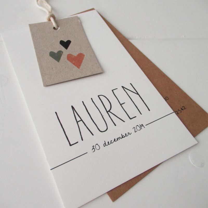 Geboortelabel Lauren