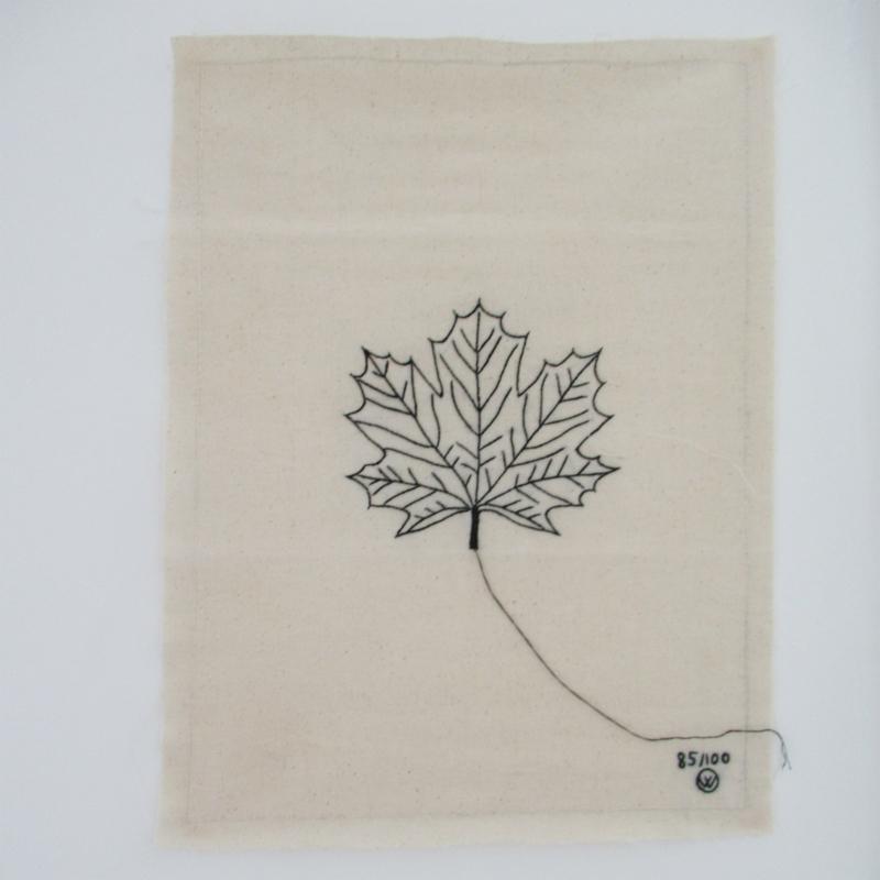 *NIEUW* Poster van katoen stitched art - blaadje