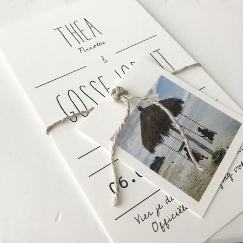 Save the date kaart Thea & Gosse Jorrit
