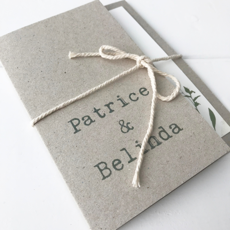 Trouwkaart Patrice & Belinda