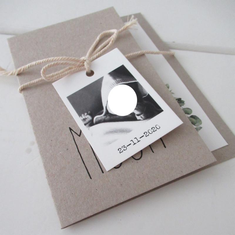 Geboortekaart pocketfold Moon