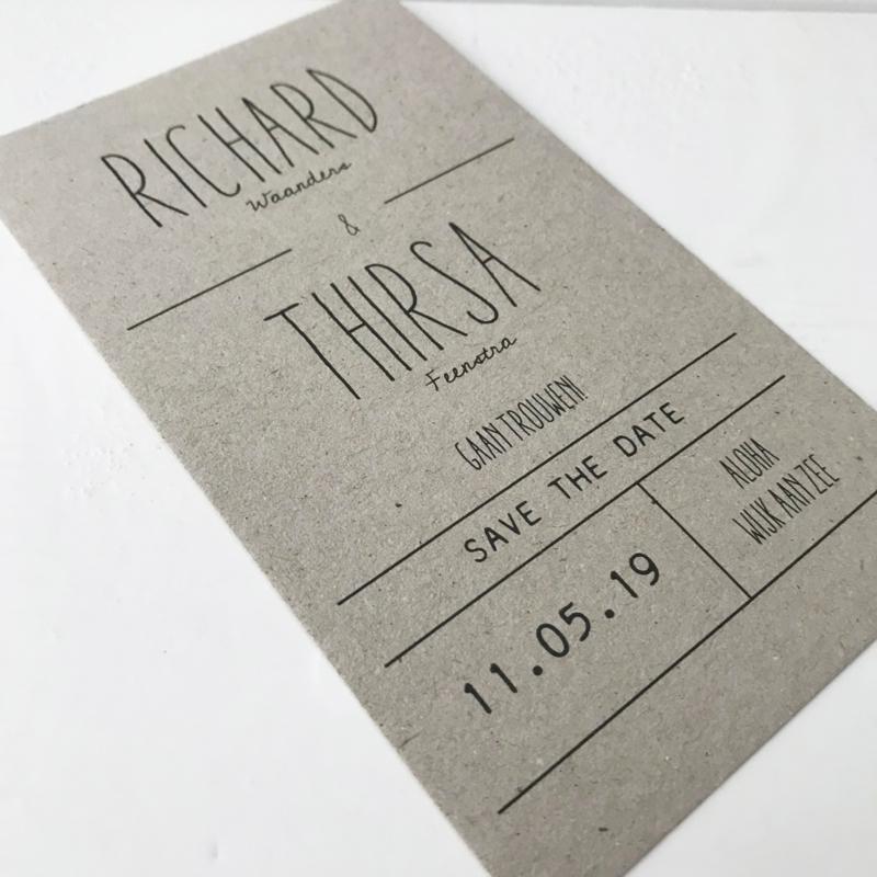 Save the Date kaart Richard & Thirsa