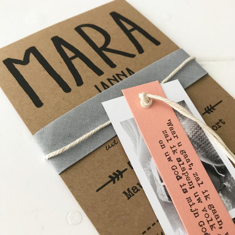 Geboortekaart Mara