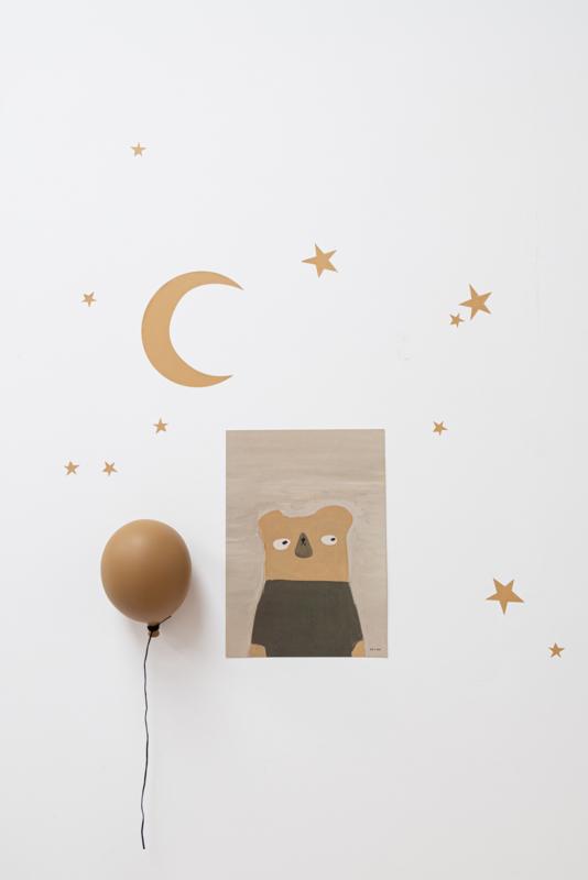 *NIEUW* Muurstickers maan & sterren goud vinyl - muurstickers kinderkamer