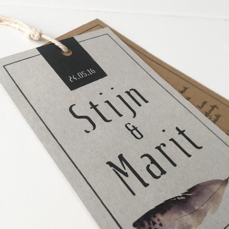 Trouwlabel Stijn & Marit