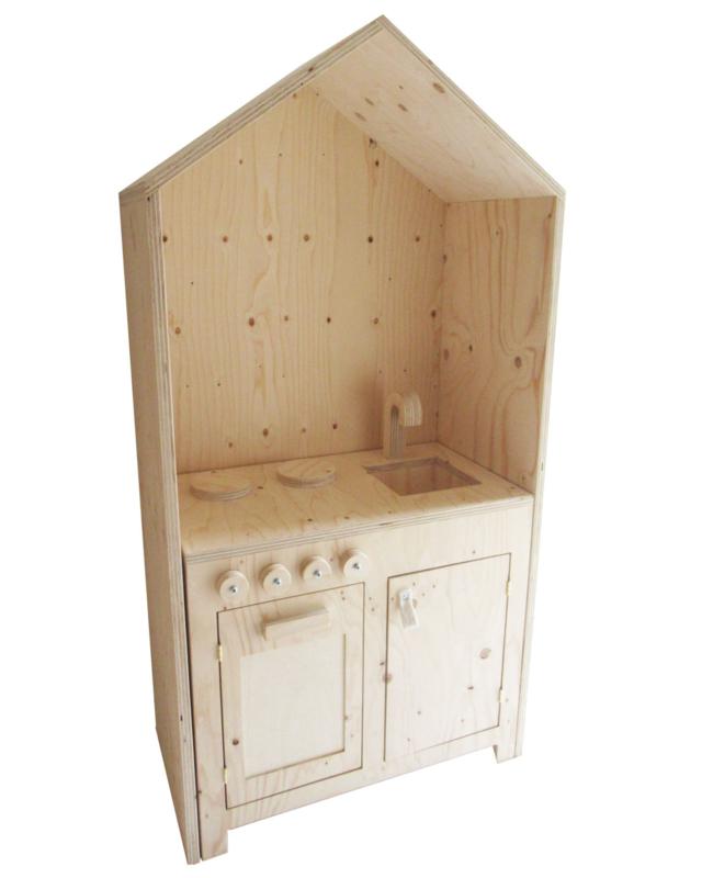 *NIEUW* Kinderkeuken met huisje underlayment - speelgoedkeuken