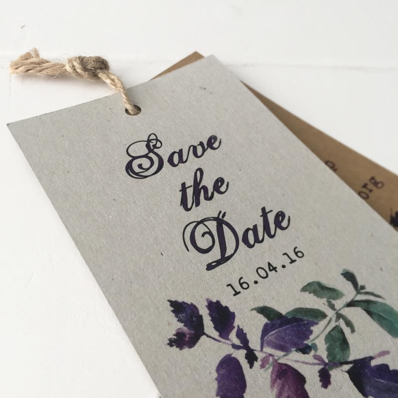 Save the Date label Olaf & Phileine