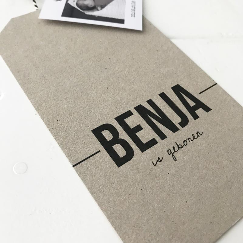 Geboortelabel Benja