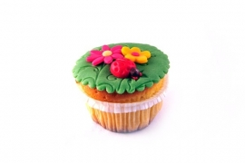 Bloemen Cupcake